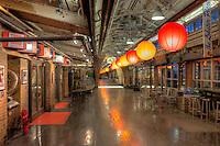The interior of Chelsea Market in the Chelsea neighborhood of Manhattan in New York City, New York