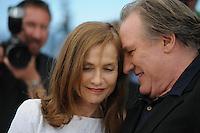 Gerard Depardieu - Isabelle Huppert <br /> Festival del Cinema di Cannes 2015<br /> Foto Panoramic / Insidefoto