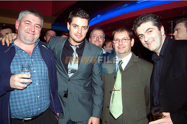 Tony Ward, Keith Duffy from Boyzone, Liam Hudson, manager Storm Nightclub and Dave Phelan, Managing Director Bru Vodka at the official opening of Storm Nightclub..Picture: Paul Mohan/Newsfile