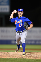 Brock Love (17) of Southside High of Gadsden in Rainbow City, Alabama playing for the New York Mets scout team during the East Coast Pro Showcase on July 31, 2014 at NBT Bank Stadium in Syracuse, New York.  (Mike Janes/Four Seam Images)