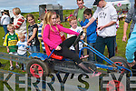 Steady as she goes: Bryona Kelly, Listowel giving it her best at the kart balancing contest at the Lisselton Vintage and Family Fun Day on Sunday   Copyright Kerry's Eye 2008