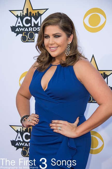 Hillary Scott of Lady Antebellum attends the 50th Academy Of Country Music Awards at AT&T Stadium on April 19, 2015 in Arlington, Texas.