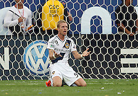 CARSON, CA - DECEMBER 01, 2012:   Christian Wilhelmsson (9) of the Los Angeles Galaxy appeals for a foul against the Houston Dynamo during the 2012 MLS Cup at the Home Depot Center, in Carson, California on December 01, 2012. The Galaxy won 3-1.