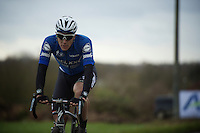 Niki Terpstra (NLD/Etixx-QuickStep) cruising over the cobbles<br /> <br /> GP Samyn 2016