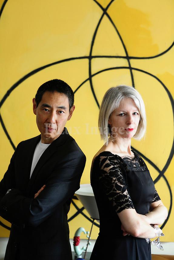 Portrait of Elizabeth Cannon and Taro Suzuki