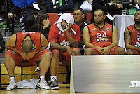 The Pistons bench reflects on the loss. NBL Semifinal - Waikato Pistons v Bay Hawks at TSB Bank Arena, Wellington, New Zealand on Friday, 15 July 2011. Photo: Dave Lintott / lintottphoto.co.nz
