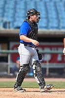 Bryant Bowen (21) of Captain Shreve High School in Shreveport, Louisiana playing for the New York Mets scout team during the East Coast Pro Showcase on August 2, 2014 at NBT Bank Stadium in Syracuse, New York.  (Mike Janes/Four Seam Images)