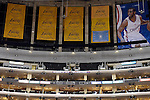 "LOS ANGELES, CA - MARCH 12:  ""One Day One Game"" A general view of the Championship Banners at Staples Center before the Los Angeles Clippers game against the Golden State Warriors during their NBA Game at the Staples Center  on March 12, 2014 in Los Angeles, California.  (Photo by Donald Miralle for ESPN the Magazine)"