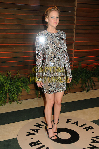 02 March 2014 - West Hollywood, California - Jennifer Lawrence. 2014 Vanity Fair Oscar Party following the 86th Academy Awards held at Sunset Plaza.  <br /> CAP/ADM/BP<br /> &copy;Byron Purvis/AdMedia/Capital Pictures