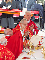Papa Francesco celebra la messa della Domenica delle Palme in Piazza San Pietro, 20 marzo 2016.<br /> Pope Francis celebrates the Palm Sunday mass in St. Peter's Square at the Vatican, 20 March 2016.<br /> UPDATE IMAGES PRESS/Riccardo De Luca<br /> <br /> STRICTLY ONLY FOR EDITORIAL USE