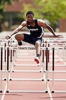 SAN ANTONIO, TX - APRIL 10, 2010: The Trinity University Alumni Clasic Track & Field Meet at E.M. Stevens Stadium. (Photo by Jeff Huehn)