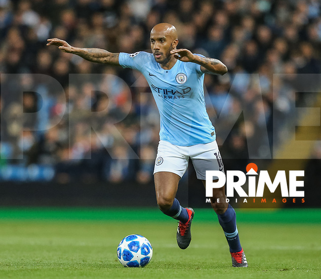 Fabien DELPH of Manchester City during the UEFA Champions League match between Manchester City and Olympique Lyonnais at the Etihad Stadium, Manchester, England on 19 September 2018. Photo by David Horn / PRiME Media Images.