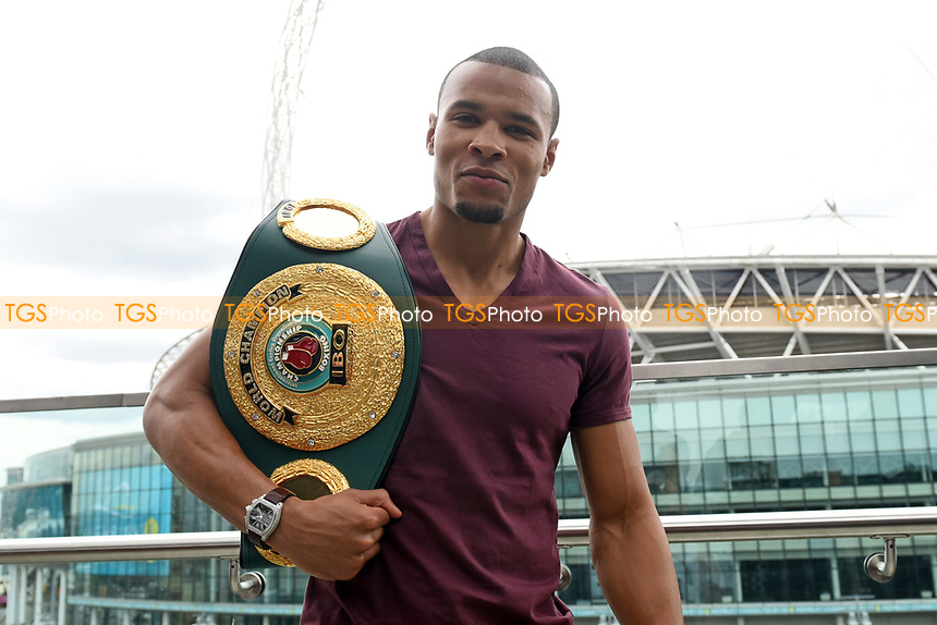 Chris Eubank Jnr during a Press Conference at the Sky Bar, Hilton Hotel on 13th July 2017