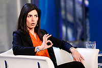 Virginia Raggi mayor of Rome<br /> Rome March 20th 2019. The mayor of Rome appears as a guest on the tv show Porta a Porta.<br /> Foto Samantha Zucchi Insidefoto