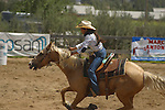 YOUNG GIRL COMPETES in the BARREL RACE (2)