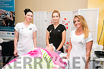 Edita Lucun, Julie Cahill, Tara O'Halloran Cronin, Beauty Therapy  Instructor Kerry ETB Training Centre,  and  Shauna Cahill at the Kerry ETB's Further Education and Training Fair in the The Brandon Hotel on Thursday