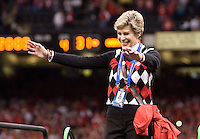 Ohio State coach Jim Tressel's wife Ellen Watson is pictured during celebrations during 77th Annual Allstate Sugar Bowl Classic between Ohio State and Arkansas at Louisiana Superdome in New Orleans, Louisiana on January 4th, 2011.  Ohio State defeated Arkansas, 31-26.