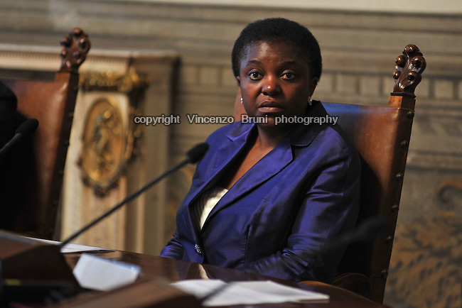 Cecile Kyenge, Minister of Integration of Italy in the Letta cabinet (April 2013 - February 2014).
