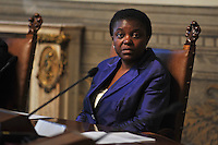 Cecile Kyenge, Minister of Integration in the Letta cabinet from April 2013 to February 2014.