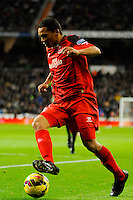 Sevilla's Carlos Bacca during 2014-15 La Liga match between Real Madrid and Sevilla at Santiago Bernabeu stadium in Alcorcon, Madrid, Spain. February 04, 2015. (ALTERPHOTOS/Luis Fernandez) /NORTEphoto.com