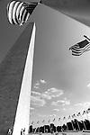 Washington Monument with flags Washington DC,