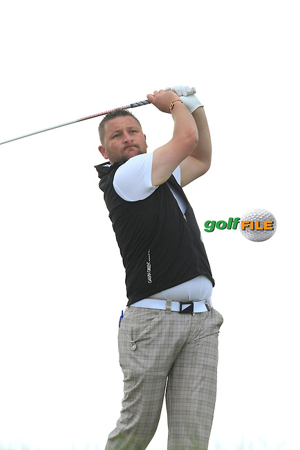 Sean Barry (Fota Island) on the 16th tee during Round 2 of the East of Ireland in the Co. Louth Golf Club at Baltray on Sunday 1st June 2014.<br /> Picture:  Thos Caffrey / www.golffile.ie