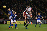 Ethan Ebanks-Landell of Sheffield Utd directs a header towards the goal during the English League One match at Bramall Lane Stadium, Sheffield. Picture date: December 10th, 2016. Pic Simon Bellis/Sportimage