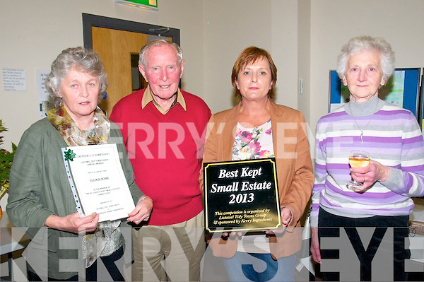 Listowel Tidy Town Awards Presentations: Attending the Listowqel Tidy Town Awards presentation night at the Listowel Family Resource Centre on Wednesday night 2nd October were residents of the Best Kept Small Estate Cluain Doire Mary & Peter McGrath, martina O'Connor &Agnes Andrews.