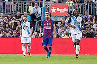 FC Barcelona's Leo Messi during the La Liga match between Futbol Club Barcelona and Deportivo de la Coruna at Camp Nou Stadium Spain. October 15, 2016. (ALTERPHOTOS/Rodrigo Jimenez)