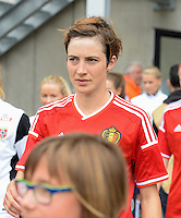20150523 - SINT-TRUIDEN ,  BELGIUM : Belgian Imke Courtois pictured during the friendly soccer game between the Belgian Red Flames and Norway, a preparation game for Norway for the Women's 2015 World Cup, Saturday 23 May 2015 at Staaien in Sint-Truiden , Belgium. PHOTO DAVID CATRY