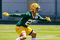 Green Bay Packers safety Josh Jones (27) during an OTA on June 1, 2017 at Clark Hinkle Field in Green Bay, Wisconsin. (Brad Krause/Krause Sports Photography)