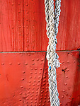 Mooring Rope Detail at North Carr Lightship City Quay Dundee Scotland