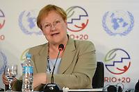 RIO DE JANEIRO-21/06/2012-Tarja Halonen, Presidente da Finlandia na  Conferencia da ONU, no Rio Centro, zona oeste do Rio.Foto:Marcelo Fonseca-Brazil Photo Press