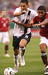 26 May 2006: Clint Dempsey (USA) (8) pushes past a Venezuela player. The United States Men's National Team defeated their counterparts from Venezuela 2-0 at Cleveland Browns Stadium in Cleveland, Ohio in a men's international friendly soccer game.