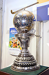 The Hague, Netherlands, June 15: The World Cup Trophy in the press centre before the field hockey gold match (Men) between Australia and The Netherlands on June 15, 2014 during the World Cup 2014 at Kyocera Stadium in The Hague, Netherlands. (Photo by Dirk Markgraf / www.265-images.com) *** Local caption ***