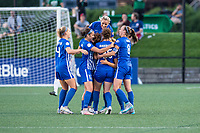 Boston, MA - Friday August 04, 2017: Boston Breakers celebrate a goal by Rosie White during a regular season National Women's Soccer League (NWSL) match between the Boston Breakers and FC Kansas City at Jordan Field.