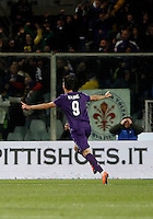 Calcio, Serie A: Fiorentina vs Juventus. Firenze, stadio Artemio Franchi, 24 aprile 2016.<br /> Fiorentina&rsquo;s Nikola Kalinic celebrates after scoring during the Italian Serie A football match between Fiorentina and Juventus at Florence's Artemio Franchi stadium, 24 April 2016. <br /> UPDATE IMAGES PRESS/Isabella Bonotto