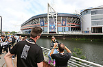 Juventus' pose for shots outside the stadium during the Champions League Final match at the Principality Stadium, Cardiff. Picture date: June 3rd, 2017. Pic credit should read: David Klein/Sportimage