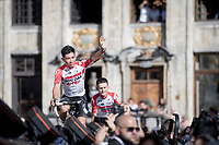 Caleb Ewan (AUS/Lotto-Soudal) greeting the crowd at the Official 106th Tour de France 2019 Teams Presentation at the Central Square (Grote Markt) in Brussels (Belgium)<br /> <br /> ©kramon