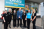 FREE PIC - NO REPRO FEE<br /> 24/09/2015 - Blackpool, Cork<br /> Staff members, from left: Rachel O'Donovan, Demi Higgins, Kathleen Kelleher, Owen Callaghan, Clare Jones, Sarah McCarthy and Laura Horgan at the official opening of the new Dealz store at Blackpool Retail Park, Cork.<br /> Pic: Brian Lougheed