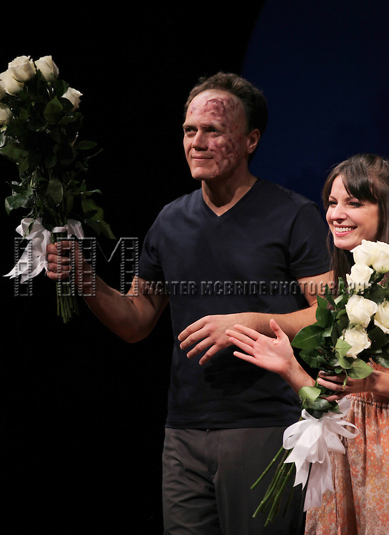 Michael Shannon and Kate Arrington during the Opening Night Performance Curtain Call for 'Grace' at the Cort Theatre in New York City on 10/4/2012.