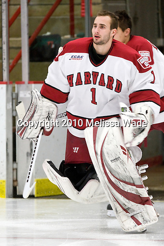 John Riley (Harvard - 1) - The Princeton University Tigers defeated the Harvard University Crimson 2-1 on Friday, January 29, 2010, at Bright Hockey Center in Cambridge, Massachusetts.