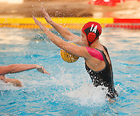Stanford - February 1, 2015: Gabby Stone during the Stanford vs UCLA title match of the 2015 Stanford Invitational at Avery Aquatic Center on Sunday afternoon.<br /> <br /> The Cardinal defeated the Bruins 9-5.