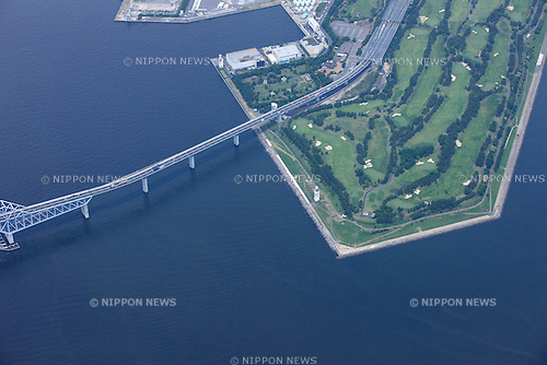 Wakasu Olympic Marina: Tokyo, Japan: Aerial view of proposed venue for the 2020 Summer Olympic Games. (Photo by AFLO)