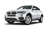 Stock pictures of low aggressive front three quarter view of a 2015 BMW X6 sDrive35i 5 Door SUV Low Aggressive