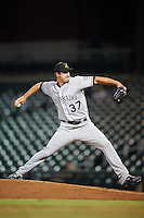 Salt River Rafters pitcher Shane Carle (37), of the Colorado Rockies organization, during a game against the Mesa Solar Sox on October 22, 2016 at Sloan Park in Mesa, Arizona.  Salt River defeated Mesa 7-2.  (Mike Janes/Four Seam Images)
