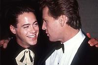 #RobertDowneyJr. #RyanONeil 1989<br /> Photo By Adam Scull/PHOTOlink.net