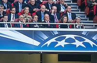 LISBOA, PORTUGUAL, 24.05.2014 - LIGA DOS CAMPEOES - REAL MADRID - ATLETICO DE MADRID - A familia Real espanhola ao lado do presidente da UEFA Michel Platini Atlético de Madrid, no estádio da Luz, em Lisboa, Portugal, neste sábado. O Real conquistou a taça da Liga pela 10ª vez. (PHOTO: PIXATHLON / BRAZIL PHOTO PRESS).