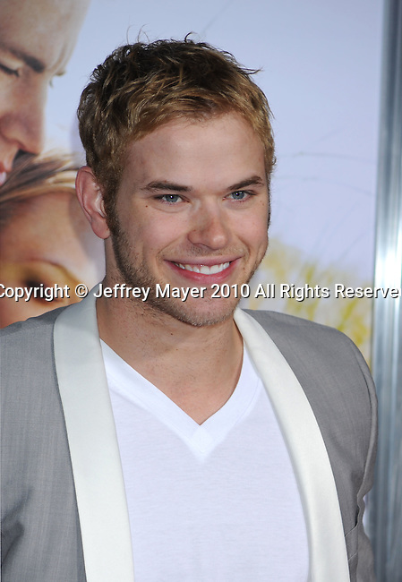 "HOLLYWOOD, CA. - February 01: Kellan Lutz arrives at the ""Dear John"" World Premiere held at Grauman's Chinese Theatre on February 1, 2010 in Hollywood, California."