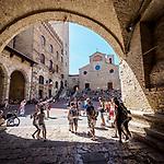 Piazza Duomo di San Gimignano, San Gimignano, Siena-Tuscano, Italy